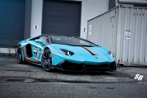 Baby Blue Lamborghini Aventador Gets Pur Wheels, Lp720