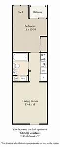 1 bedroom floor plan With floor plan for one bedroom