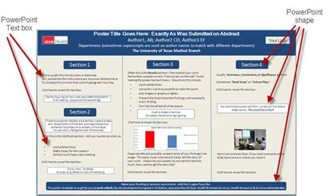 How To Make A Poster Template In Powerpoint by How To Create A Poster In Powerpoint 2007 Poster