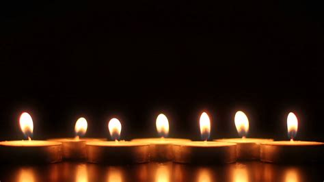 not es lilin 7 candles hd stock footage background loop