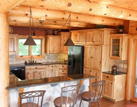 cabin style kitchen cabinets log cabin kitchen ideas stool 3 design kitchen world
