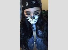 Halloween skull bandana biker makeup HAIR & MAKEUP