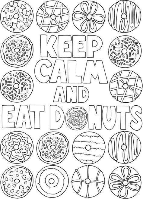 kleurplaat  calm  eat donuts   dover