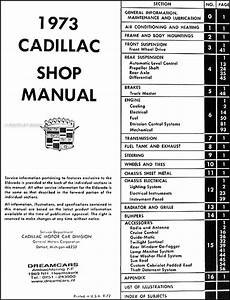 1973 Cadillac Repair Shop Manual Original