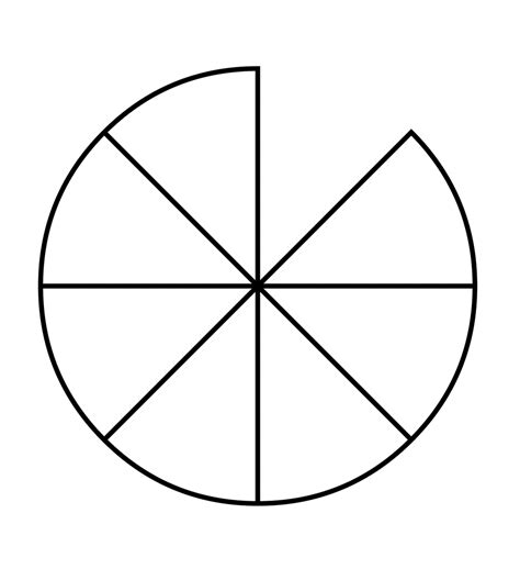 eighths   fraction pie clipart