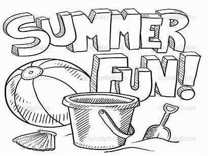 Coloring Summer Pages Preschool Coloringhome