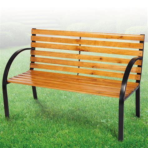 Gartenbank Metall Holz by Bank Gartenbank Liam 122cm 2sitzer Sitzbank Holz Metall