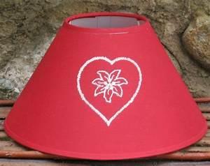 Abat Jour Rouge : abat jour coeur edelweiss rouge luminaires ~ Teatrodelosmanantiales.com Idées de Décoration