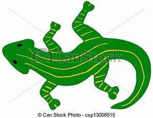 Vector Clip Art of green salamander - Green salamander ...
