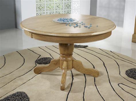 table ronde pied central marc en ch 234 ne massif de style