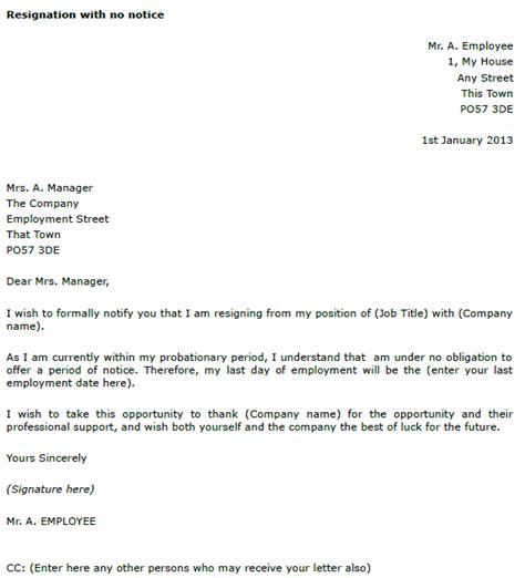 resignation letter    notice toresigncom