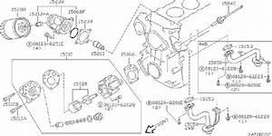Datsun Pickup Engine Oil Pump Gasket  Front