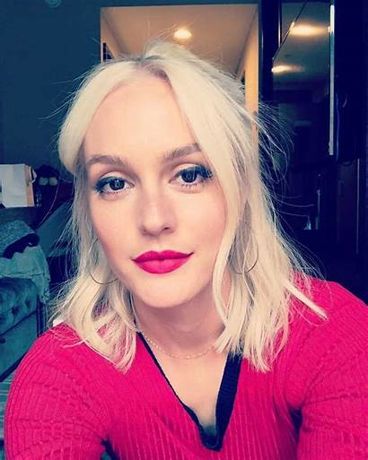 Leighton Meester Blonde Platinum Hair Instagram Gossip