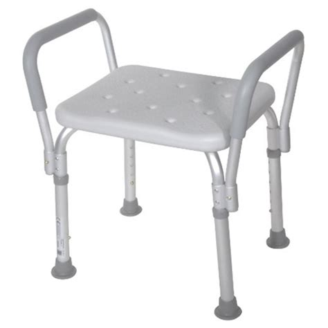 drive shower bench with removable padded arms at