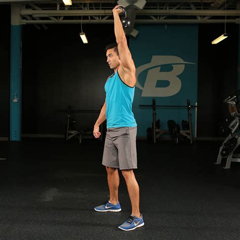 squat overhead kettlebell arm single exercises exercise
