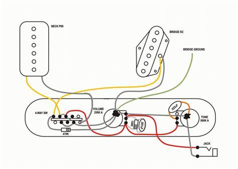 Electrical Wiring Diagram Dummy by 2 P 90 Wiring 1 Vol 1 Tone Buscar Con Guitar In