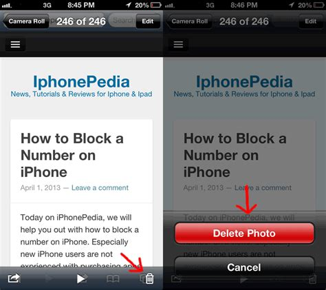 how to delete photos iphone how to delete photos on iphone iphonepedia
