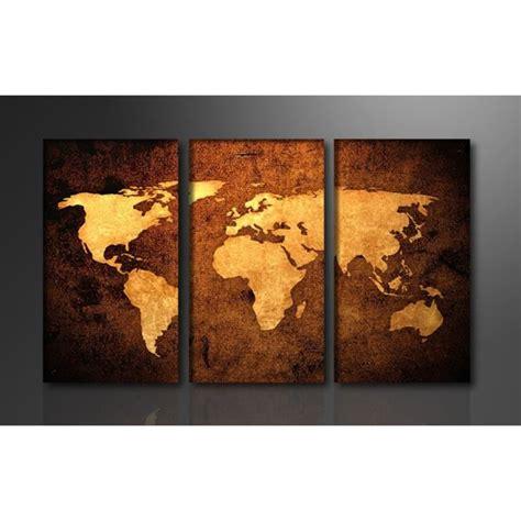 tableau cuisine maison du monde tableau triptyque imprimé 160x90 cm carte monde achat