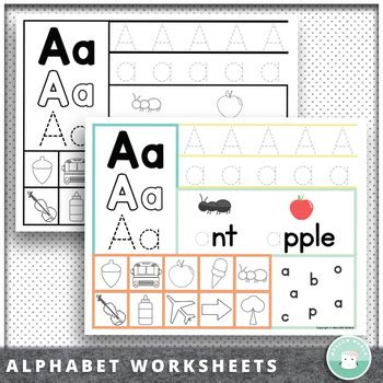 preschool kindergarten alphabet recognition letter