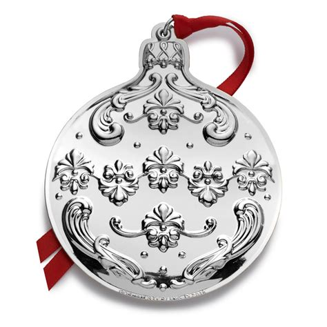 gorham chantilly  gorham silver christmas ornament