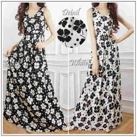 Melati Dress Gamis Melati Dres gaun cantik motif melati p1045 busana wanita model