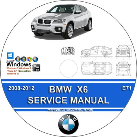 bmw x6 2008 2012 complete workshop service repair manual on cd www servicemanualforsale