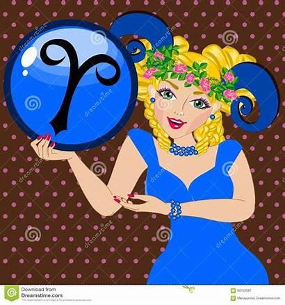 Aries Zodiac Sign Illustration Illustrations Horoscope Dreamstime