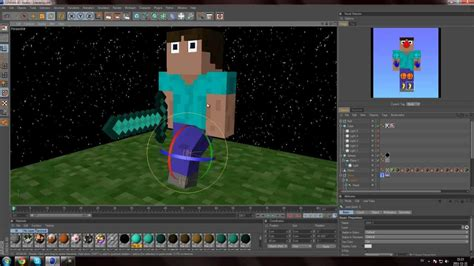 Minecraft Animated Wallpaper Maker - minecraft animation steve rig with cinema