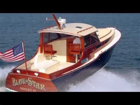 blue star custom classic wooden boat youtube