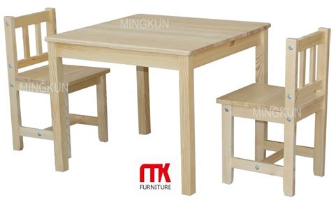 solid wood children table and chair sets from big factory