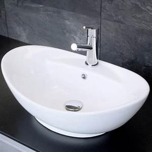 Waschbecken Oval Aufsatz : aufsatz waschbecken keramik oval 39x59cm ~ Orissabook.com Haus und Dekorationen