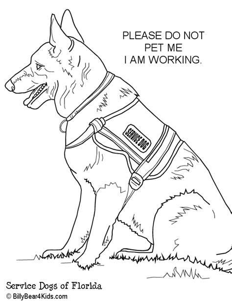 service dog coloring pages  getcoloringscom  printable colorings pages  print  color