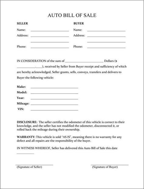 bill of sale template alabama printable sle vehicle bill of sale template form attorney forms alabama