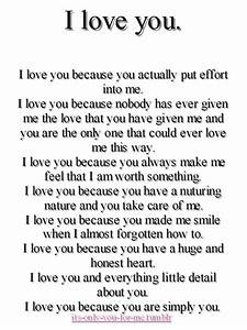 I Love You Because You Actually Put Effort Into Me ~ Love ...