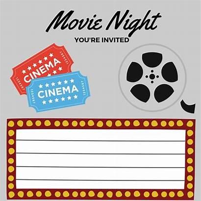 Invitation Clapboard Night Printable Clip Printables Clipart