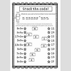 Addition Worksheets  Riddles  Jokes  Code Crackers  Adding Fun Worksheets