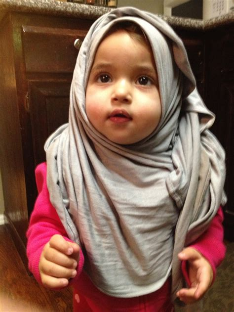 baby cute hijab images  pinterest allah hijab styles  muslim