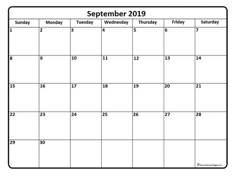september calendar printable monthly calendars