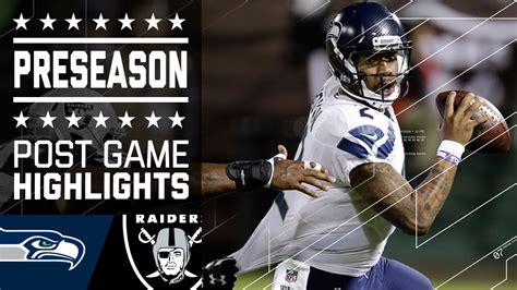 seahawks  raiders  preseason game highlights