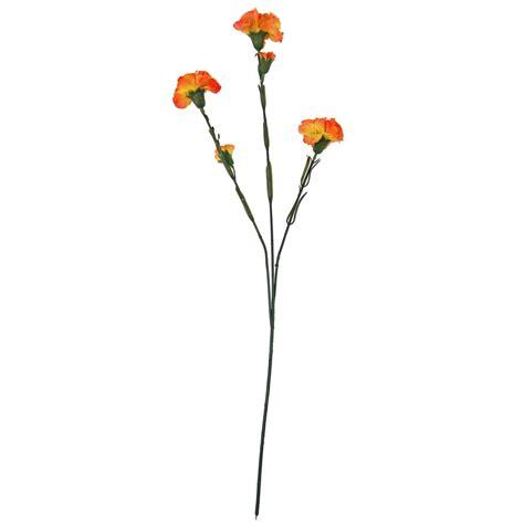 Large 3 Head Carnation Spray  Artificial Silk Flowers Long Stem Ebay