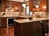 kitchen tile ideas Earth Tone Colors Kitchen Decorating - HomeStyleDiary.com