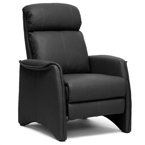 aberfeld faux leather recliner club chair in black a 062