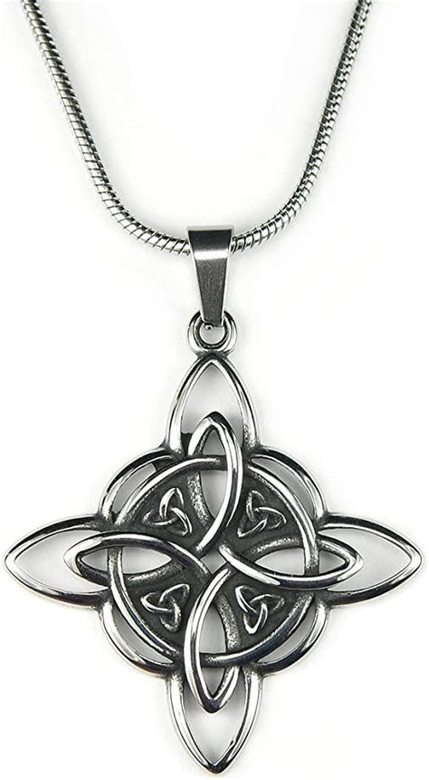 Maybe you would like to learn more about one of these? Witchy magical jewellery Triquetra black cord necklace ...
