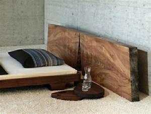 Bett Design Holz : bett kopfteil holz selber bauen ~ Frokenaadalensverden.com Haus und Dekorationen