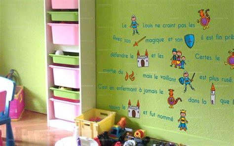 stickers muraux chambre bébé fille stickers histoire de chevalier