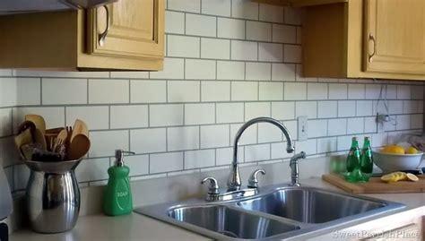 painted subway tile backsplash kitchen backsplash