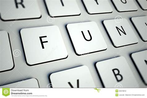 Keyboard And Fun Buttons, Game Concept Stock Photography