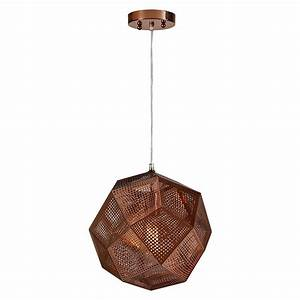 Renwil geodesico light copper pendant lpc the home