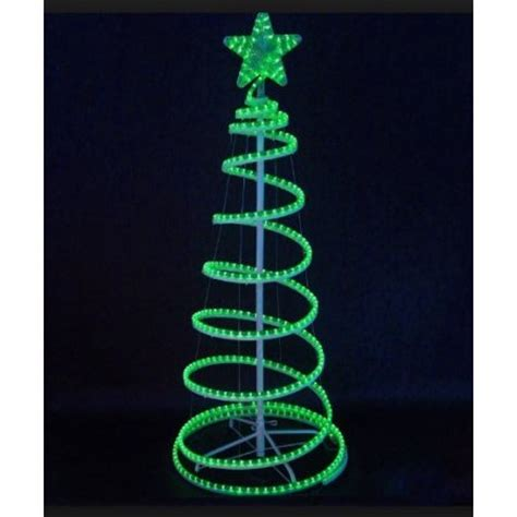6 39 green led lighted outdoor spiral rope light tree yard decoration walmart