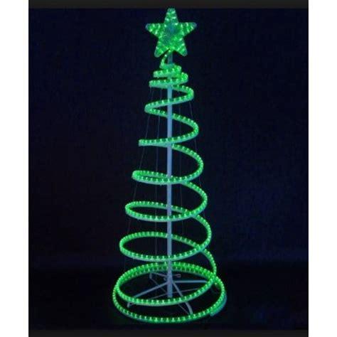 green light christmas tree 6 39 green led lighted outdoor spiral light christmas